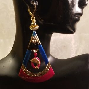 Queen nefertiti charms earrings